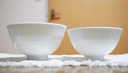 バラバラだった夫婦のお茶碗を、お揃いの白に。