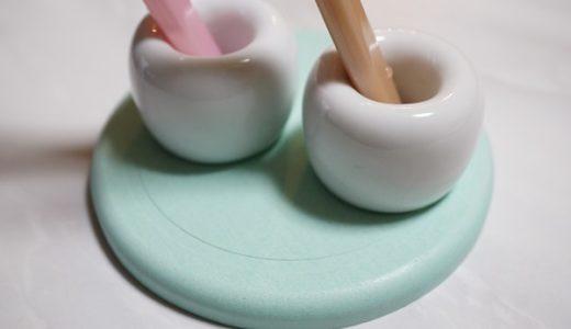 【洗面所】ダイソー珪藻土コースター×無印良品歯ブラシスタンド